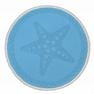 Starfish Round Cotton Turkish Beach Towel