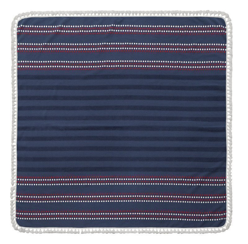 Wrap up in the luxurious Harlow Square Turkish Beach Towel, loomed from premium long-staple Turkish cotton. The generous size is a luxury.